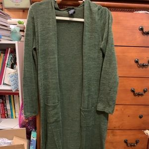 Agnes and for olive sweater duster M/L